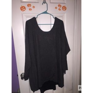 charcoal gray long sleeve top size 4 from torrid.